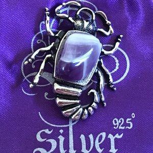 Jewelry - Silver brooch & amethyst (FREE)